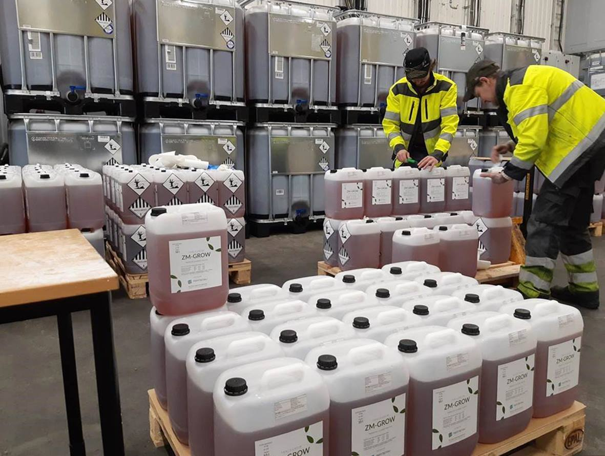 Organic fertilizers out of used alkaline batteries