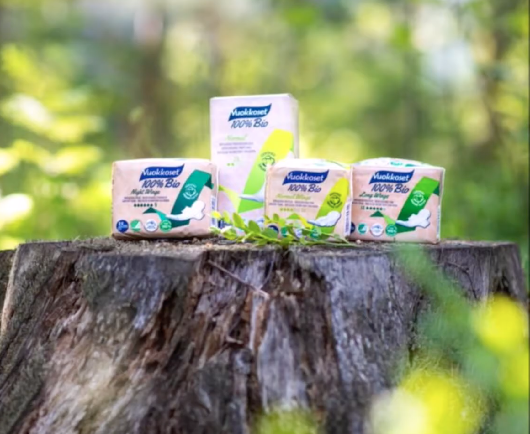 Vuokkoset Biodegradable Sanitary Products