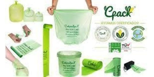 100% Compostable and Certified Bags and Raw Materials / Bolsas y materias primas 100% compostables y certificadas