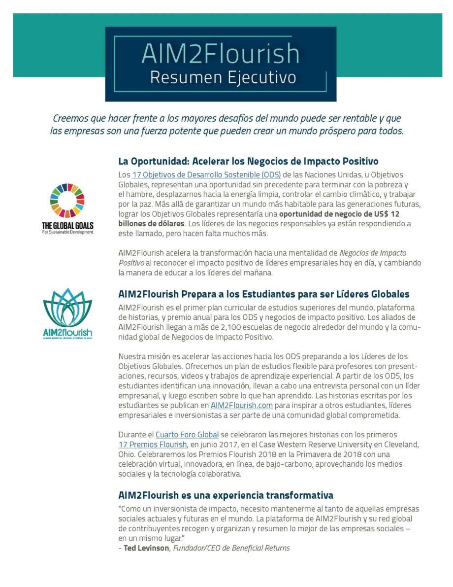 AIM2Flourish Executive Summary en Espanol