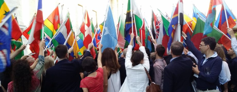 Peace pole ceremony at the Fourth Global Forum