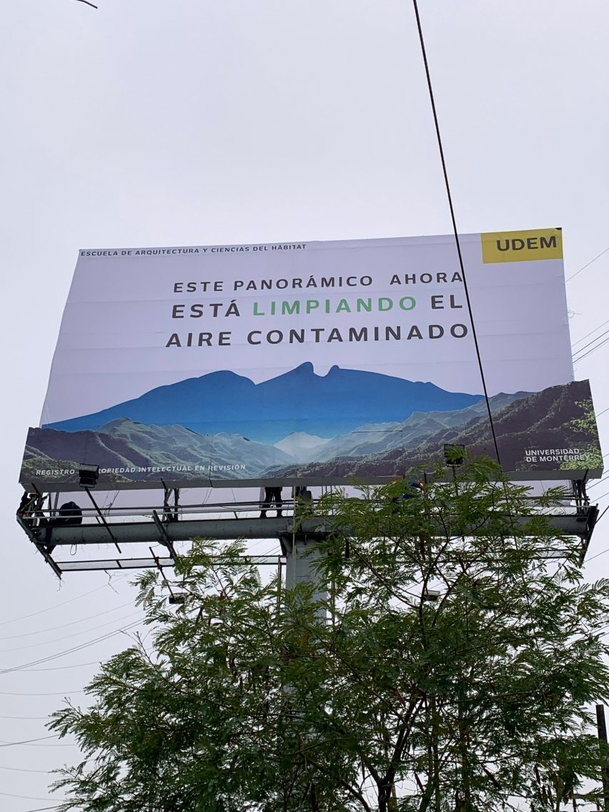 The first billboard that eats pollution